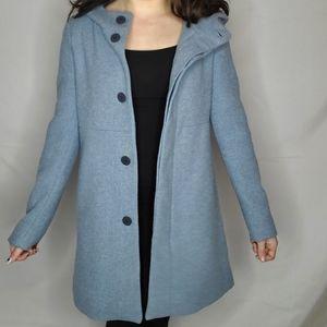 2/$100   Zara blue wool coat